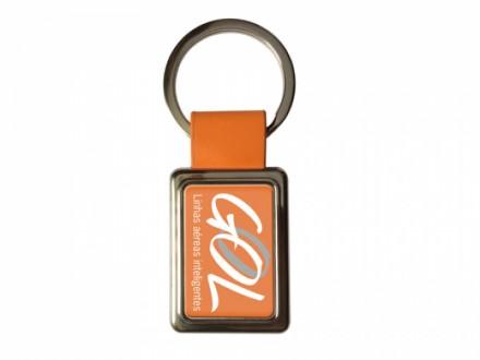 Chaveiro Personalizado de Metal para Brindes 143170 Laranja - Confira aqui o melhor preço! | A7 Brindes