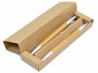 Kit de caneta com lapiseira ecológico corpo em bambu e caixinha reciclada