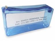 Necessaire personalizada em PVC Cristal