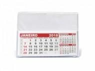 Calendário para brindes de mesa 2017 em PVC Tamanho Grande