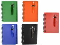 Porta bloco de anotações com post-it, mini caneta e régua