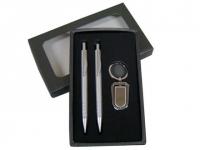 Conjunto de caneta, lapiseira e chaveiro personalizado