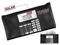 Carteira promocional com calculadora e porta moedas Dispositivo solar