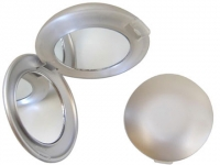 Espelho promocional de pvc prata com luz