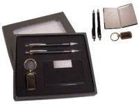 Kit promocional Contém: Chaveiro, Caneta, Lapiseira e Porta Cartão de metal