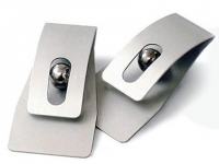 Porta recado para brindes em aluminio com fita adesiva para fixação