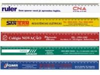 Régua personalizada de 30 cm em diversas cores