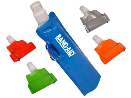 Squeeze plástico dobrável Capacidade: 450ml.