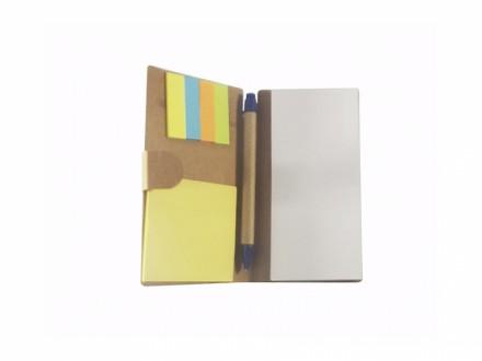 Porta bloco personalizado ecológico Acompanha caneta e post-it