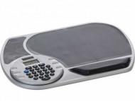 Mouse Pad personalizado com calculadora prata e detalhe preto