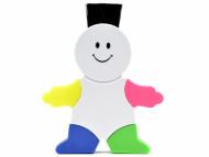 Marca texto colorido com limpador de teclado em formato de mascote