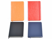 Porta bloco anotações pautado com capa em couro sintético