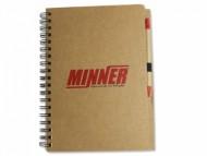 Caderno Personalizado 17,5x25 com caneta ecológica - Confira aqui o melhor preço! | A7 Brindes