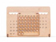 Calendário Personalizado Permanente em MDF - Confira aqui o melhor preço! | A7 Brindes