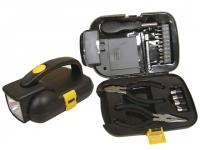 Kit ferramenta personalizado com lanterna portátil Medidas(20x13x10cm)Acompanha caixinha de papelão envernizada