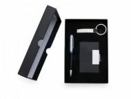 Kit Personalizado: Chaveiro, Porta Cartão e Caneta. - Confira aqui o melhor preço! | A7 Brindes