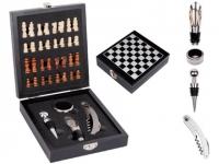 Kit vinho para brindes com jogo de xadrez