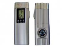 Lanterna personalizada com bússola e relógio digital