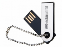 Pen drive de metal com corrente. Capacidade: 16GB