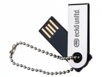 Pen drive de metal com corrente. Capacidade: 4GB