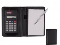 Porta Bloco personalizado com calculadora e caneta, dispositivo Solar