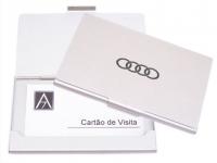 Porta cartão personalizado prata de alumínio