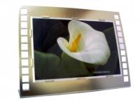 Porta retrato promocional horizontal metalizado Tamanho da foto: 10x15 cm