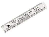 Régua personalizada de 20 cm com polegadas e furo