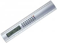 Régua com calculadora e calendário personalizado em acrílico com 30 cm