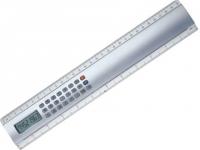 Régua com calculadora para brindes e detalhe em acrílico com 30 cm