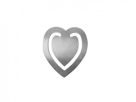 Marca Página Personalizado Coração - Confira aqui o melhor preço!   A7 Brindes